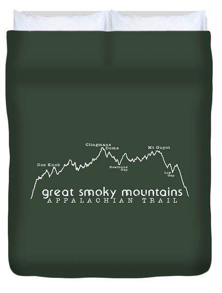 At Elevation Profile Gsm White Duvet Cover by Heather Applegate