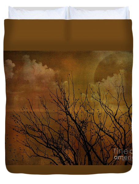 Duvet Cover featuring the digital art At End Of Day IIi by Rhonda Strickland
