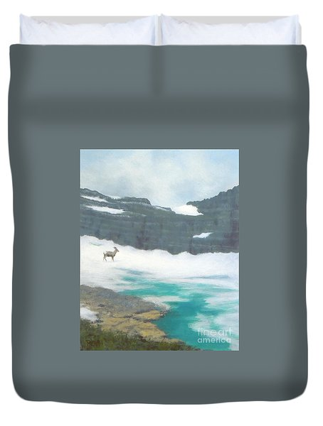 At Grinnell Glacier Duvet Cover