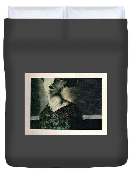 At Her Gaze Duvet Cover