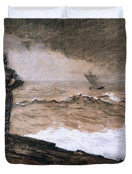 At High Sea Duvet Cover by Winslow Homer