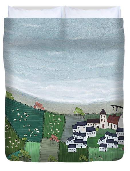 At Home By The Sea  Duvet Cover
