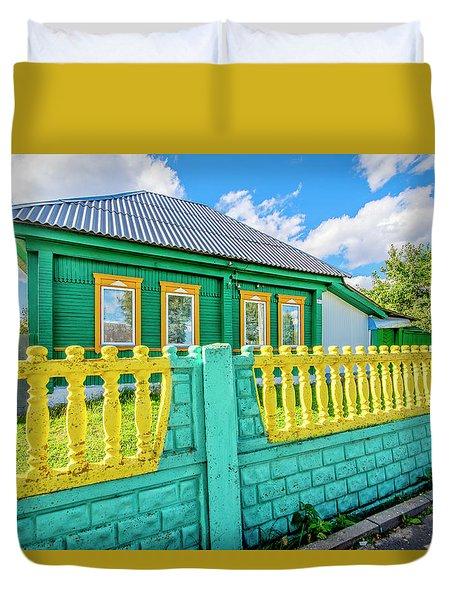 At Home In Belarus Duvet Cover