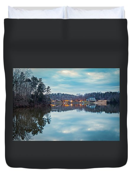 At Home On The Lake Duvet Cover