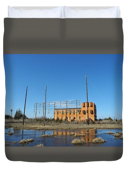 At N T Long Lines Historic Site Duvet Cover by Sami Martin