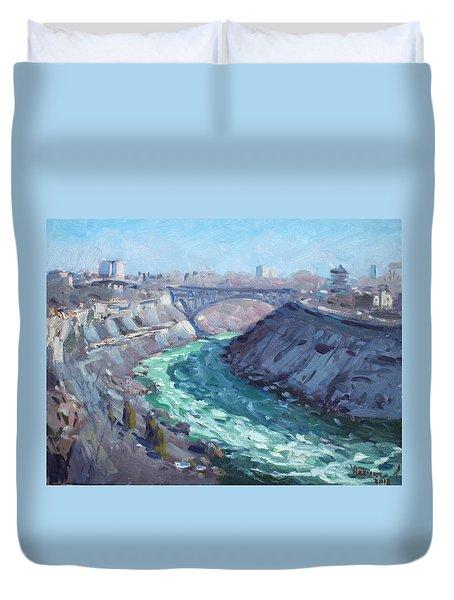 At Niagara Gorge Duvet Cover