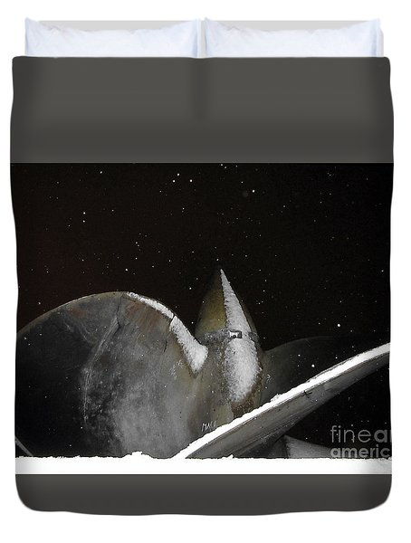 At Night In The Winter Duvet Cover