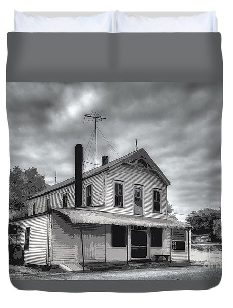 Duvet Cover featuring the digital art At Peers Bluff Road by William Fields