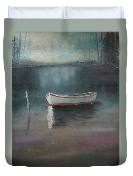 Duvet Cover featuring the painting At Rest by Chris Fraser