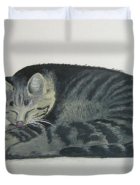 Duvet Cover featuring the painting At Rest by Norm Starks
