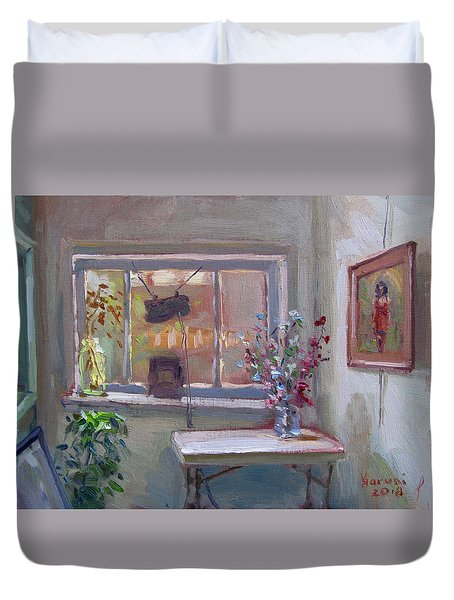 At River Art Gallery Duvet Cover