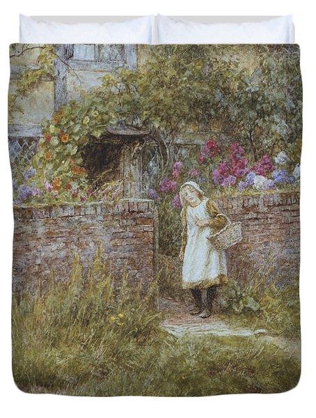 At Sandhills Duvet Cover by Helen Allingham