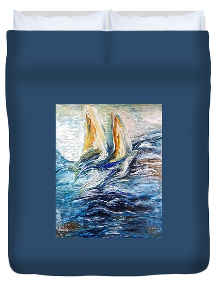 At Sea Duvet Cover