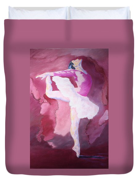 Duvet Cover featuring the painting At The Ballet by Nancy Jolley