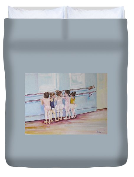 At The Barre Duvet Cover by Julie Todd-Cundiff