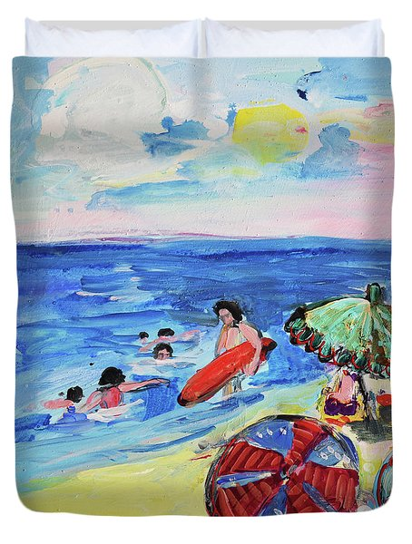 At The Beach Duvet Cover by Amara Dacer