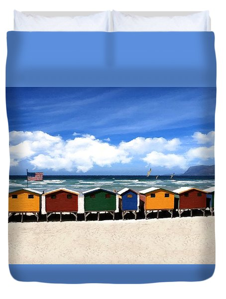 Duvet Cover featuring the photograph At The Beach by David Dehner