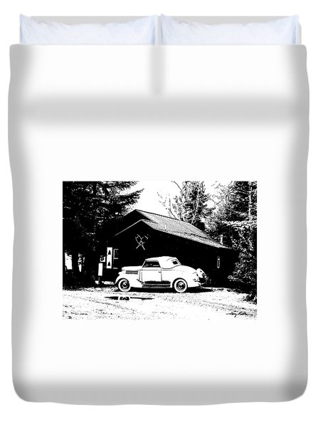 At The Cabin Duvet Cover
