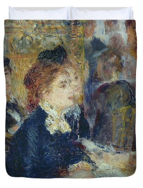 At The Cafe Duvet Cover by Pierre Auguste Renoir