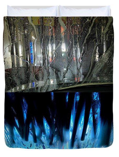 At The Car Wash 13 Duvet Cover