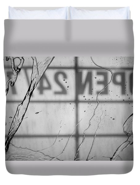 Duvet Cover featuring the photograph At The Car Wash by Colleen Coccia