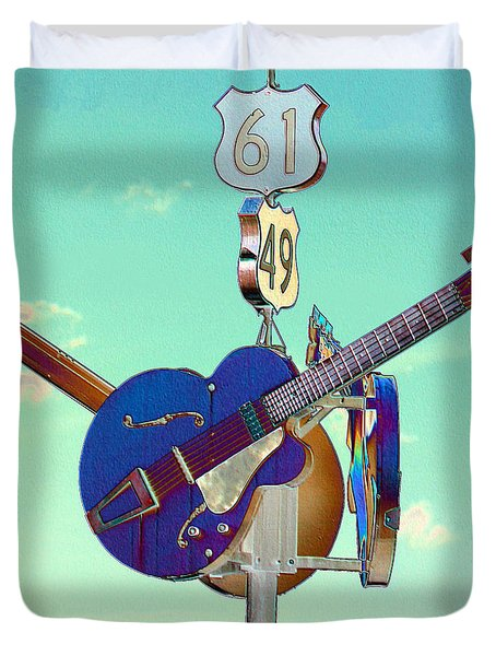 At The Crossroads Duvet Cover