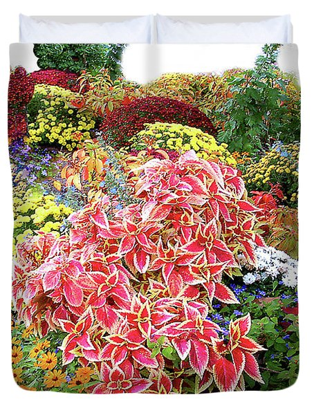 At The Dallas Texas Arboretum Duvet Cover