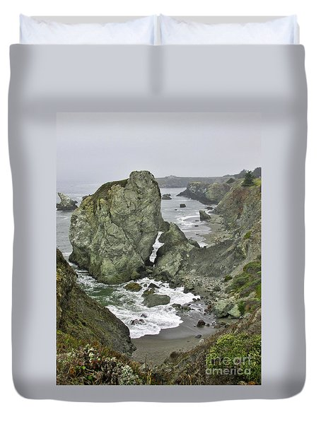 At The Edge Duvet Cover