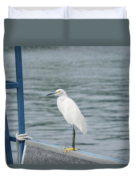 Duvet Cover featuring the photograph At The Edge by Kim Hojnacki