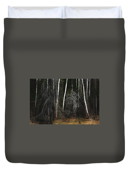 Duvet Cover featuring the photograph At The Edge Of The Forest  by Jim Vance