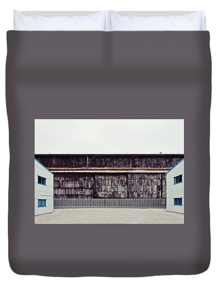 At The Edge Of Town Duvet Cover