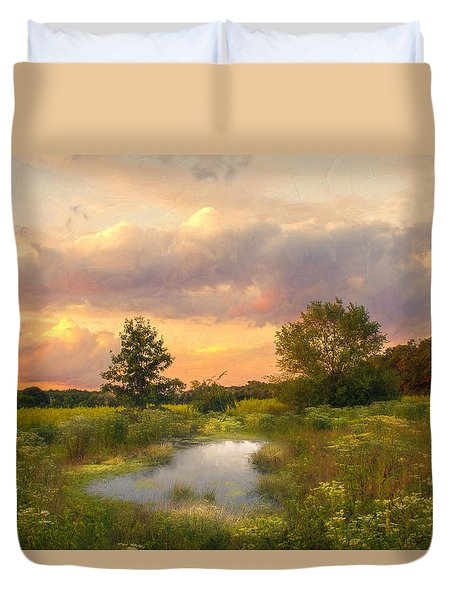 At The End Of The Day Duvet Cover by John Rivera