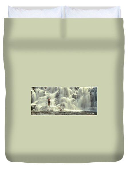 At The Falls Duvet Cover