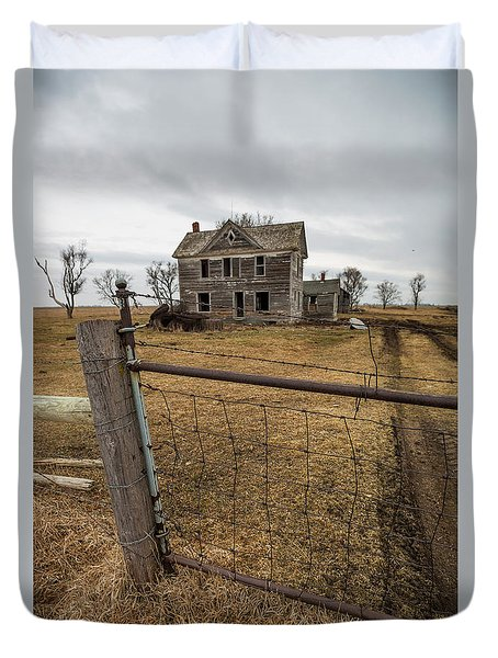 Duvet Cover featuring the photograph At The Gate  by Aaron J Groen