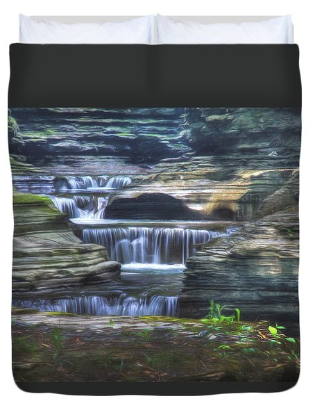 At The Gorge Duvet Cover