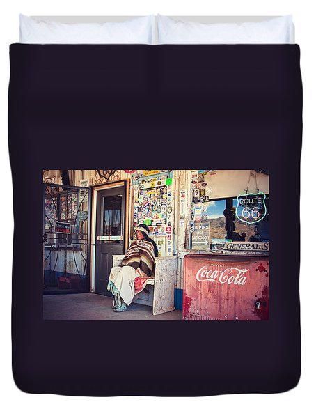 At The Hackberry General Store Duvet Cover