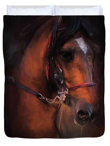 At The Horse Show 1 Duvet Cover
