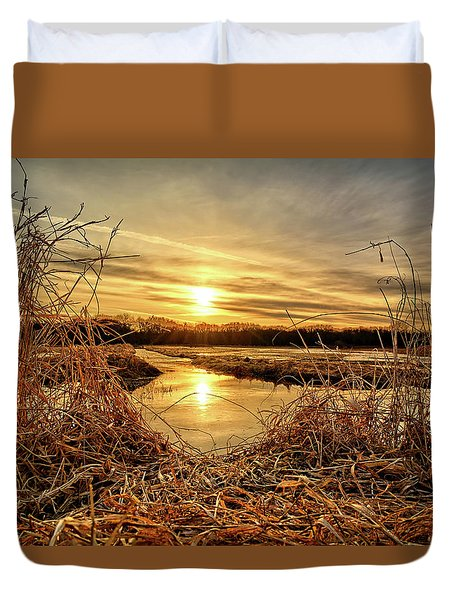 At The Rivers Edge Duvet Cover by Bonfire Photography