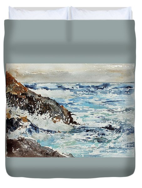 At The Rocks Duvet Cover by Monte Toon