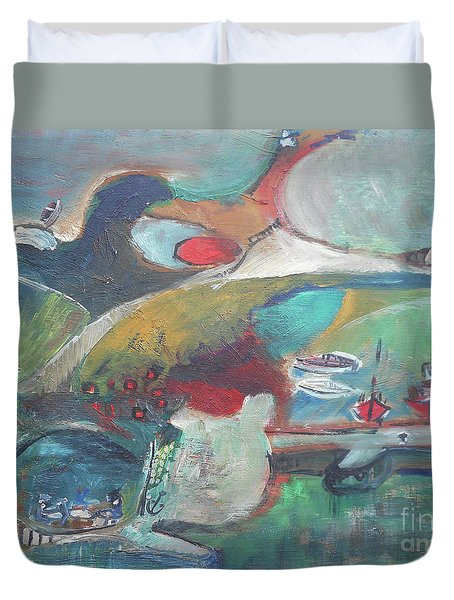 At The Sea Shore Duvet Cover