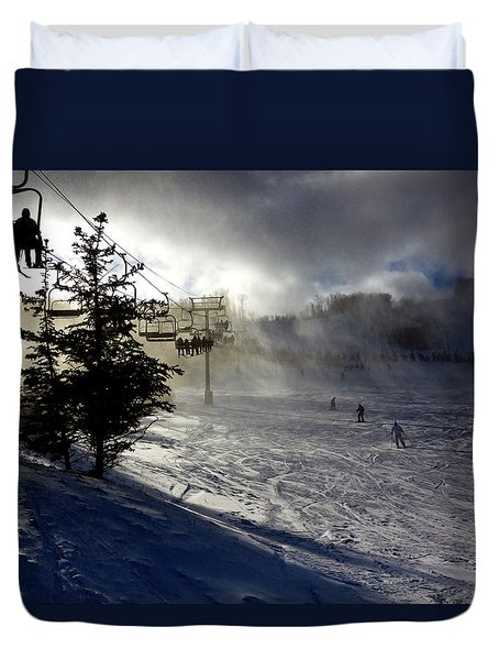 At The Ski Slope Duvet Cover