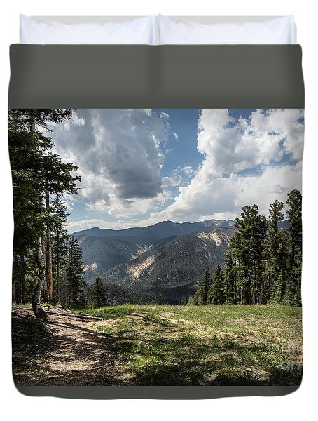 At The Top Of The Run Duvet Cover