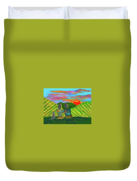 At The Vineyard Duvet Cover