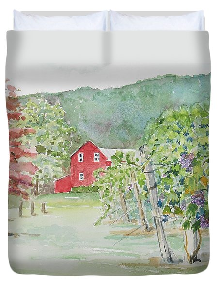 At The Winery Duvet Cover
