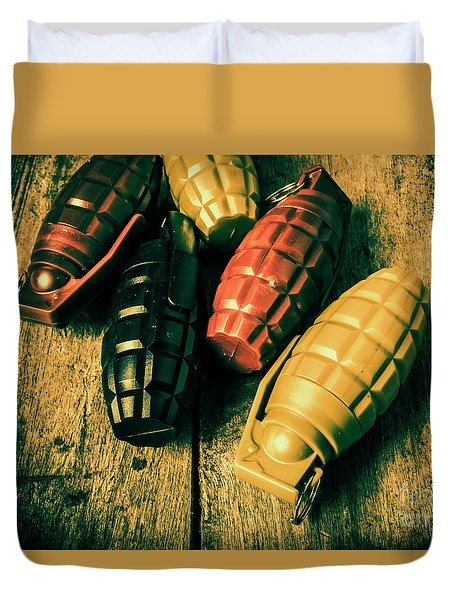 At The Wooden Armoury Duvet Cover