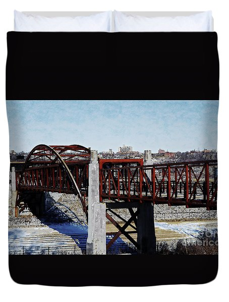 At Three Bridges Park Duvet Cover by David Blank