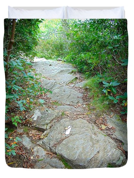 At-trail Blazes Duvet Cover