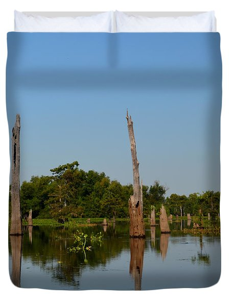 Atchafalaya Basin 18 Duvet Cover by Maggy Marsh