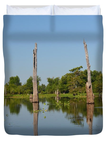 Atchafalaya Basin 19 Duvet Cover by Maggy Marsh