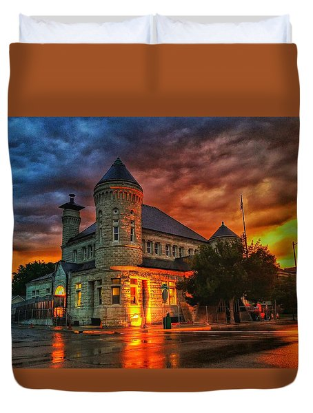 Atchison Post Office  Duvet Cover by Dustin Soph